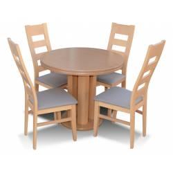 Zestaw 4 krzeseł K-47 + rozkładany stół S-35 90/240
