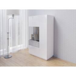 Silke TYP-42 biały / biały połysk + beton colorado