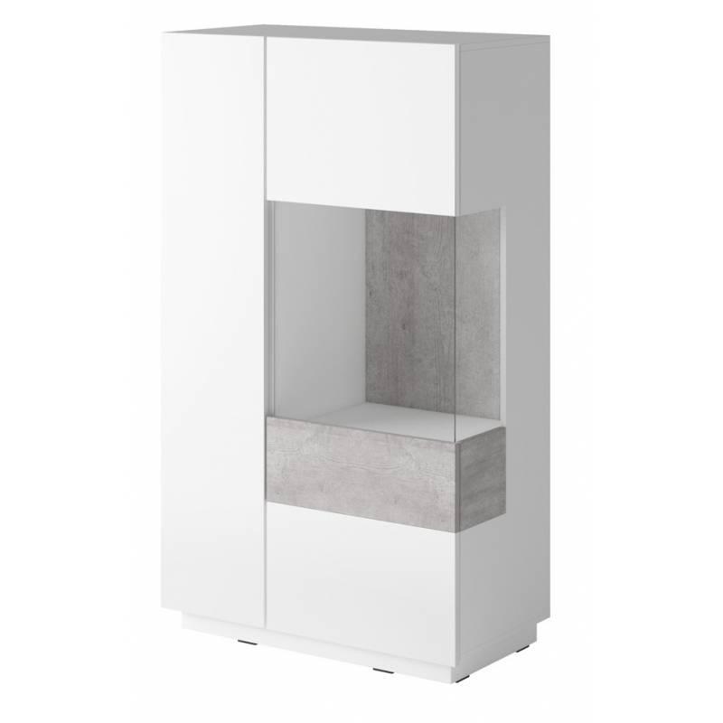 SIlke TYP-44 biały / biały połysk + beton colorado