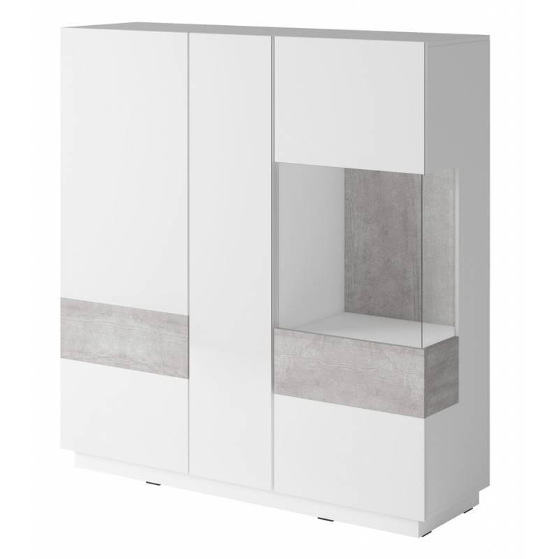 SIlke TYP-46 biały / biały połysk + beton