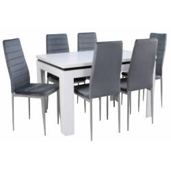 Stół C-6 80x120/160 biały +...
