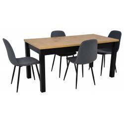 Zestaw 4 krzeseł Tkanina...
