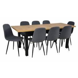 Zestaw 8 krzeseł Tkanina...