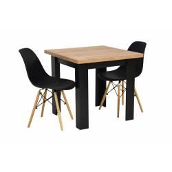 Zestaw 2 krzeseł SL Czarne...