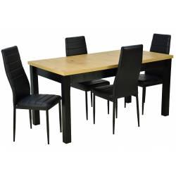 Zestaw 4 czarne krzesła...