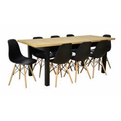 Zestaw 8 krzeseł SL Czarne...