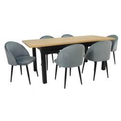 Zestaw 6 krzeseł Welur...