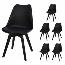 6x Krzesło SL-2 Czarne,...