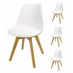 4x Krzesło SL-2 Białe, nogi...
