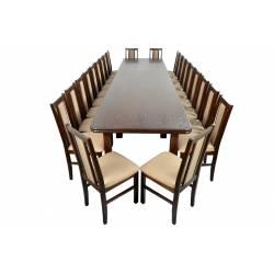 Zestaw Huron 22 krzesła B-14 i stół WP-400 100x200/400 orzech, obicie 13N