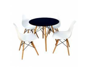 Zestaw krzeseł i stołu idealny do jadalni oraz salonu