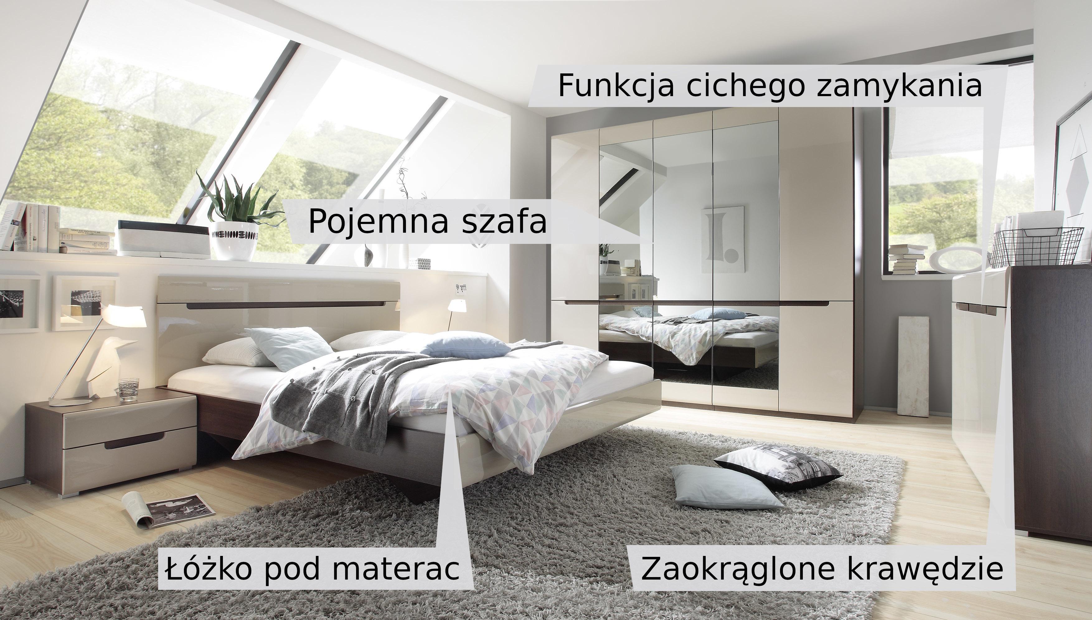 5a4bf9aeef3594 Sypialnia Hektor łóżko 160x200 / szafa TYP-21 - Meble Focus