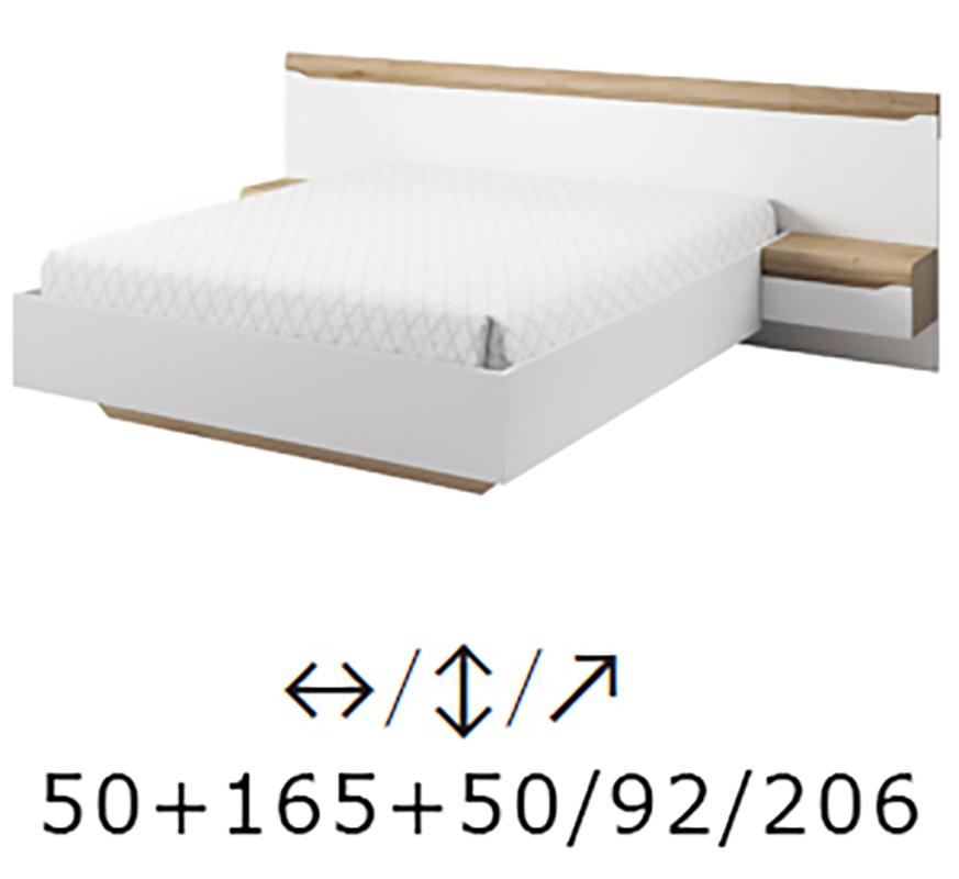 łóżko 160x200 Stoliki Nocne Z Systemu Dallas